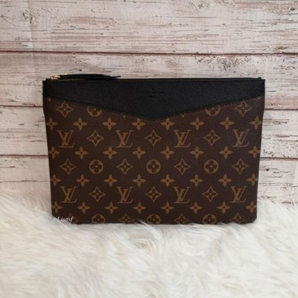 Louis Vuitton Clutches Monogram Canvas Blended Fabrics Bag in Bag Bi-color