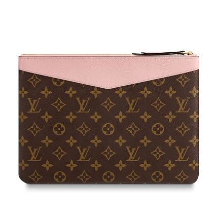 Louis Vuitton Clutches Monogram Canvas Blended Fabrics Bag in Bag Bi-color 8