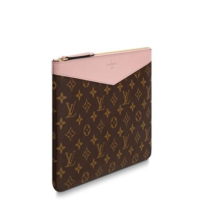 Louis Vuitton Clutches Monogram Canvas Blended Fabrics Bag in Bag Bi-color 9