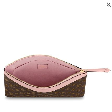 Louis Vuitton Clutches Monogram Canvas Blended Fabrics Bag in Bag Bi-color 10