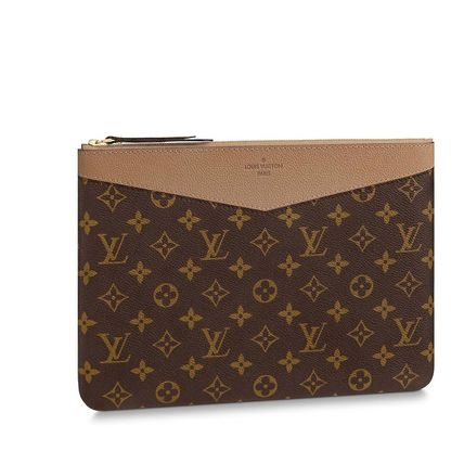 Louis Vuitton Clutches Monogram Canvas Blended Fabrics Bag in Bag Bi-color 11