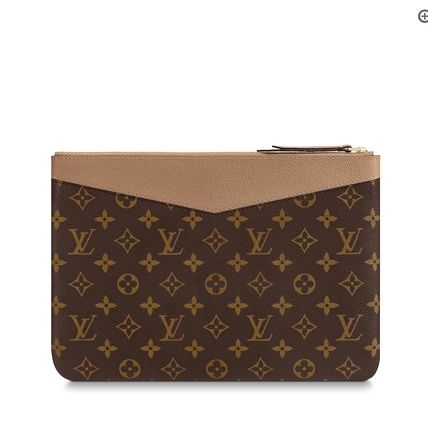 Louis Vuitton Clutches Monogram Canvas Blended Fabrics Bag in Bag Bi-color 12