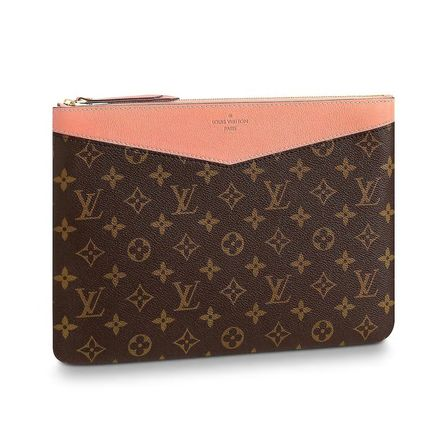 Louis Vuitton Clutches Monogram Canvas Blended Fabrics Bag in Bag Bi-color 15