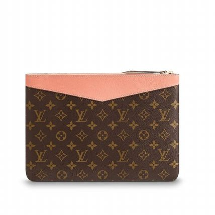 Louis Vuitton Clutches Monogram Canvas Blended Fabrics Bag in Bag Bi-color 18