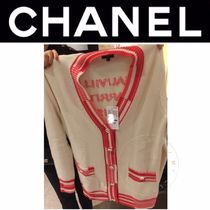 CHANEL ICON Cashmere Street Style Bi-color Long Sleeves Medium Handmade