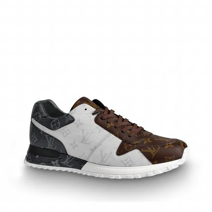 Louis Vuitton Sneakers Monogram Unisex Blended Fabrics Street Style Bi-color 3