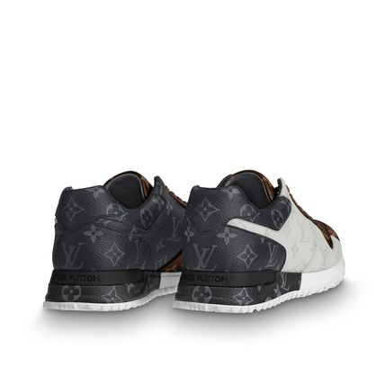Louis Vuitton Sneakers Monogram Unisex Blended Fabrics Street Style Bi-color 6