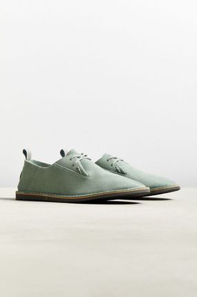 Plain Toe Suede Street Style Plain Oxfords