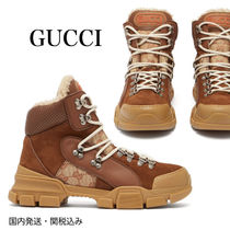 GUCCI Monogram Mountain Boots Rubber Sole Casual Style Unisex