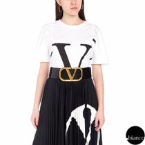 VALENTINO Crew Neck Cotton Short Sleeves T-Shirts