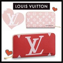 Louis Vuitton ZIPPY WALLET Monogram Unisex Canvas Bi-color Long Wallets