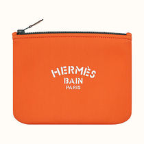 HERMES Yachting Plain Pouches & Cosmetic Bags
