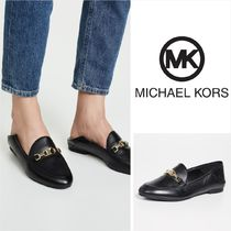 Michael Kors Casual Style Sheepskin Plain Loafer Pumps & Mules