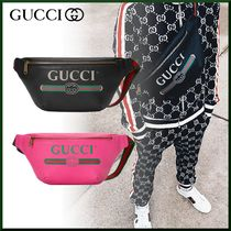 GUCCI Unisex Street Style Hip Packs