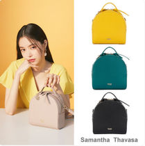 Samantha Thavasa Casual Style Street Style 3WAY Plain Leather Handbags