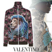 VALENTINO Camouflage Street Style With Jewels Jackets