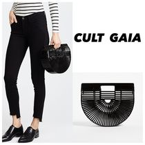 CULT GAIA Street Style Plain Oversized Straw Bags
