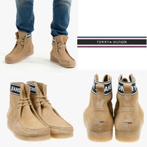 Tommy Hilfiger Suede Street Style Plain Engineer Boots