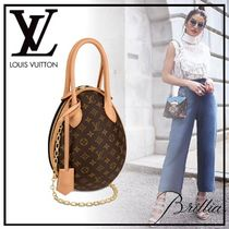 Louis Vuitton MONOGRAM Monogram Chain Leather Party Style Party Bags