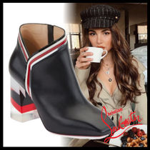 Christian Louboutin Casual Style Leather Chunky Heels Ankle & Booties Boots