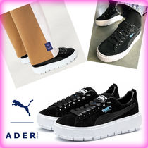 ADERERROR Unisex Street Style Leather Low-Top Sneakers