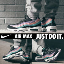 Nike AIR MAX 95 Leopard Patterns Unisex Blended Fabrics Street Style