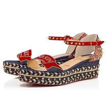 Christian Louboutin Madmonica Other Check Patterns Open Toe Suede Studded Plain Handmade