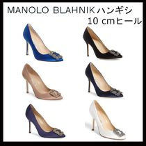Manolo Blahnik Hangisi Plain Pin Heels Party Style Pointed Toe Pumps & Mules