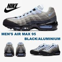 Nike AIR MAX 95 Unisex Plain Leather Sneakers