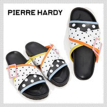 Pierre Hardy Dots Rubber Sole Casual Style Shower Shoes Flat Sandals