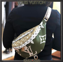 Louis Vuitton Monogram Unisex Canvas Street Style 3WAY Bi-color Khaki