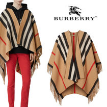 Burberry Stripes Wool Ponchos & Capes