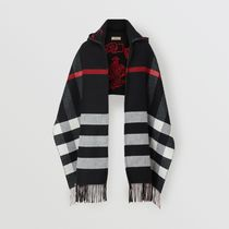 Burberry Stripes Cashmere Ponchos & Capes