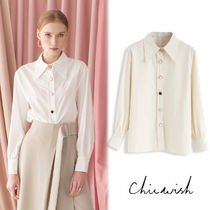 Chicwish Long Sleeves Plain Medium With Jewels Elegant Style
