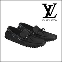 23e5273a450 Louis Vuitton TAIGA Loafers Plain Leather Loafers   Slip-ons