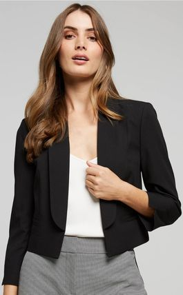 Plain Medium Office Style Jackets