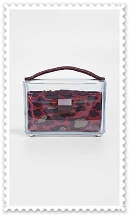Leopard Patterns Bag in Bag Plain Crystal Clear Bags