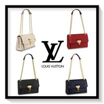 Louis Vuitton Monogram Blended Fabrics 2WAY Leather Elegant Style Handbags