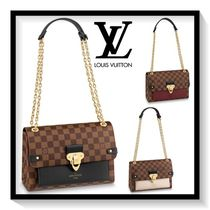 Louis Vuitton Other Check Patterns Canvas Blended Fabrics 2WAY Chain