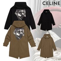CELINE Unisex Street Style Collaboration Plain Khaki Jackets