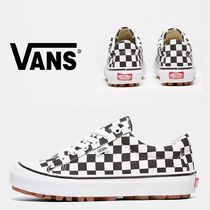 VANS Other Check Patterns Platform Casual Style Unisex Suede