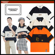 ROMANTIC CROWN Unisex Street Style Polo Shirts