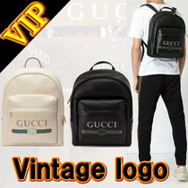 GUCCI Stripes Leather Backpacks