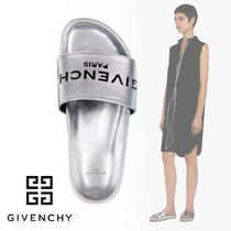 GIVENCHY Casual Style Sheepskin Plain Shower Shoes Flat Sandals