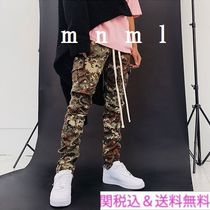 MNML Camouflage Blended Fabrics Street Style Cargo Pants