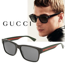 GUCCI Unisex Square Sunglasses