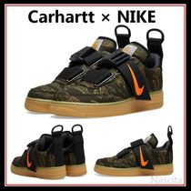 Carhartt Camouflage Round Toe Rubber Sole Casual Style Street Style