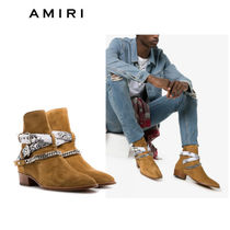AMIRI Paisley Suede Chain Boots