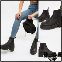 Dr Martens ROMETTY Round Toe Casual Style Blended Fabrics Street Style Plain