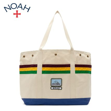 Stripes Casual Style Unisex Street Style A4 Totes